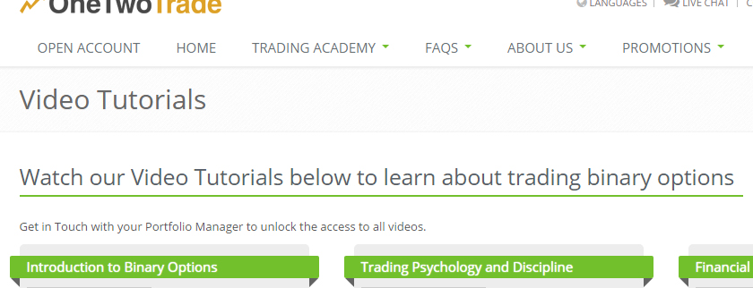OneTwoTrade Education and Training